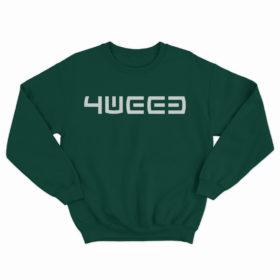 4weed green sweatshirt