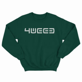 4weed green sweatshirt